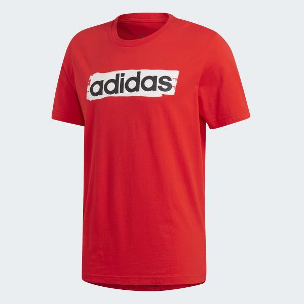 Trapunta compilare ignoranza  adidas Linear Brush Tee - Red   adidas Australia