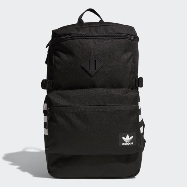 adidas National Zip Top Backpack - Black | adidas US | Tuggl