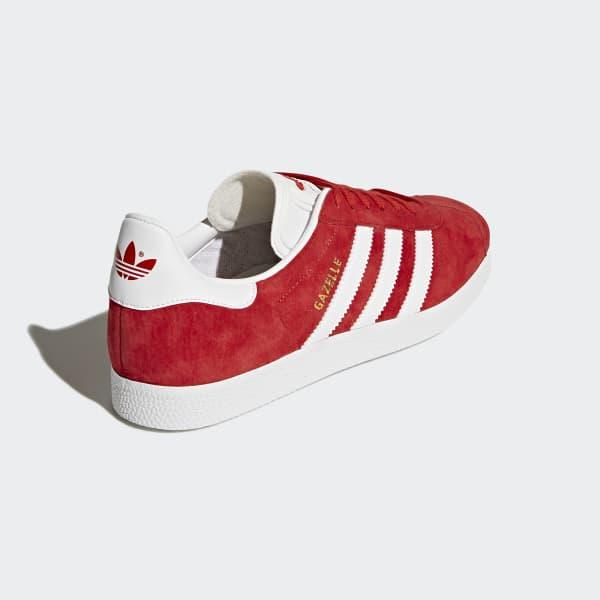 Adidas Originals Gazelle Herren Schuhe RotWeißGold Metallic BB5486