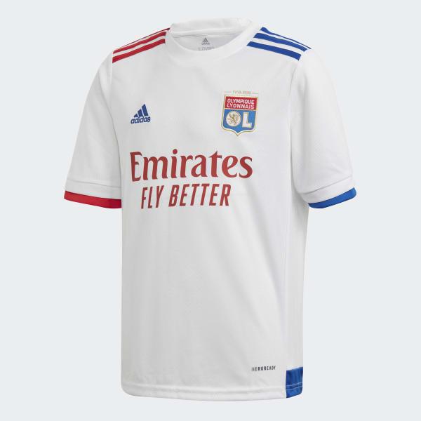 Sucediendo Preguntarse Paisaje  adidas Olympique Lyonnais 20/21 Home Jersey - White | adidas UK