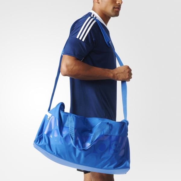 316dc6f0c Bolsa Ginástica Média Tiro - Azul adidas | adidas Brasil