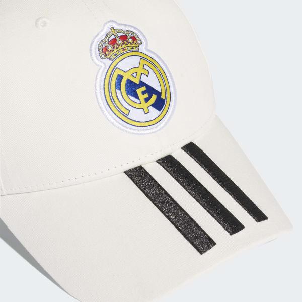 adidas Gorra 3 Rayas Real Madrid - Blanco  453c710fa1a