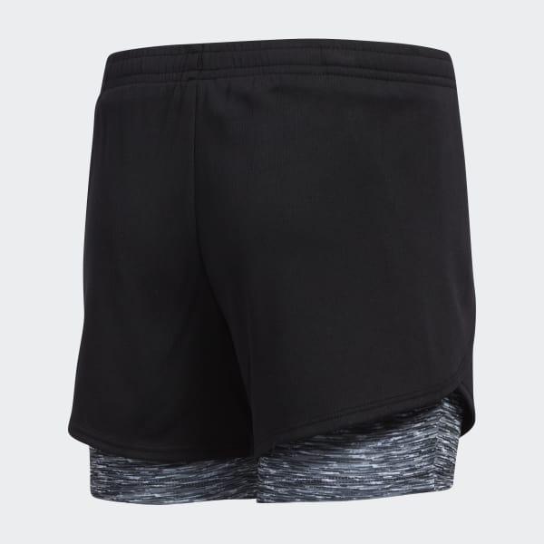 2-in-1 Space Dye Shorts