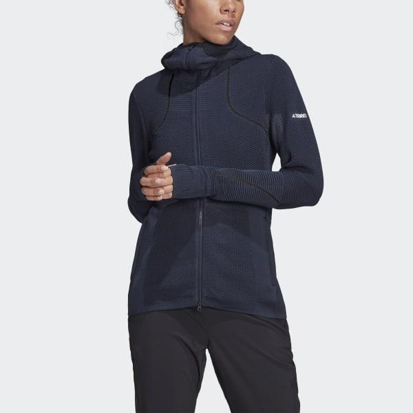 adidas Primeknit Mid Layer Hooded Jacket Black | adidas