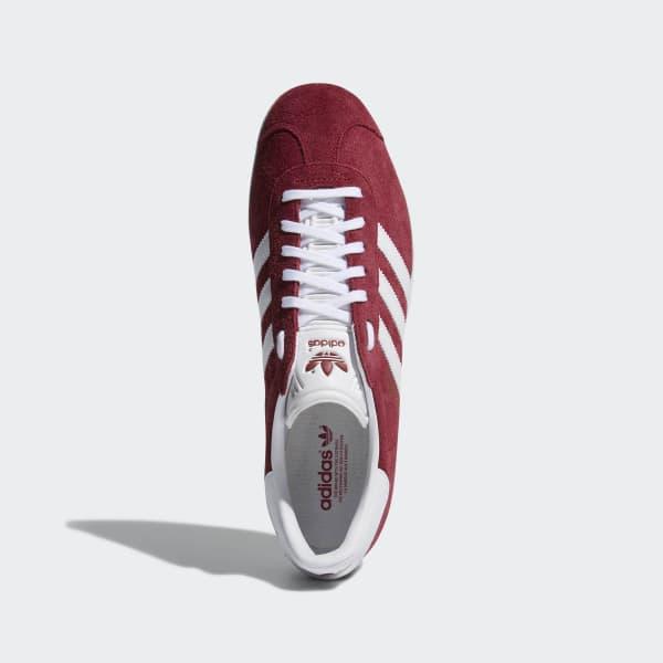 Chaussures Gazelle bordeaux et blanches | adidas France