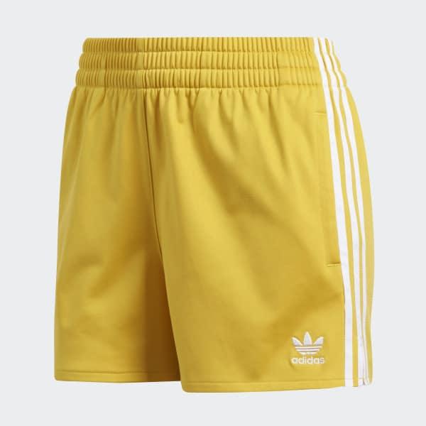 yellow adidas shorts