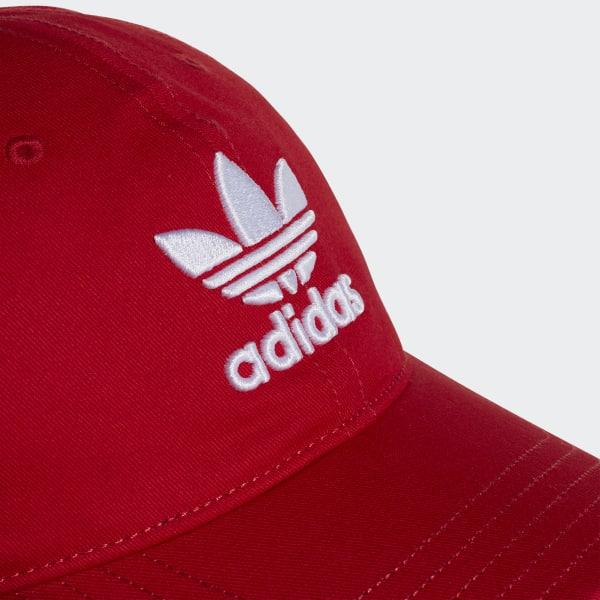 Boné Trefoil Classic - Vermelho adidas  e4977b5905f