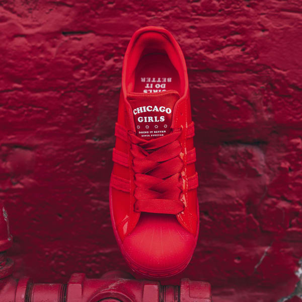 Chicago Girls Do It Better Superstar Lush Red Shoes Adidas Us