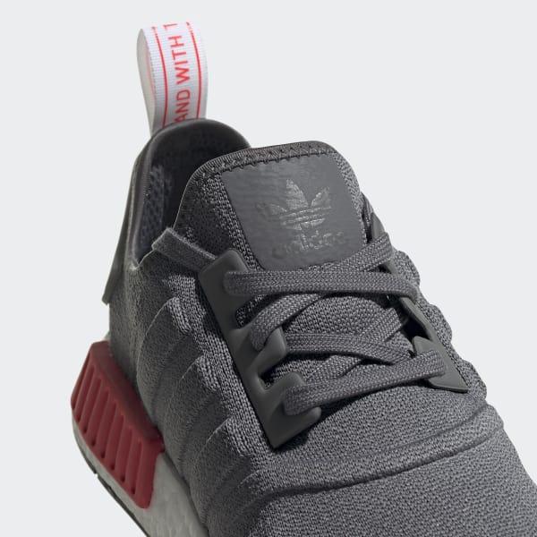 Primeknit R1 Grå Dame Originals Köpa Adidas Sko Nmd På