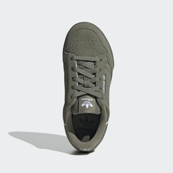 chaussure adidas continental 80 vert