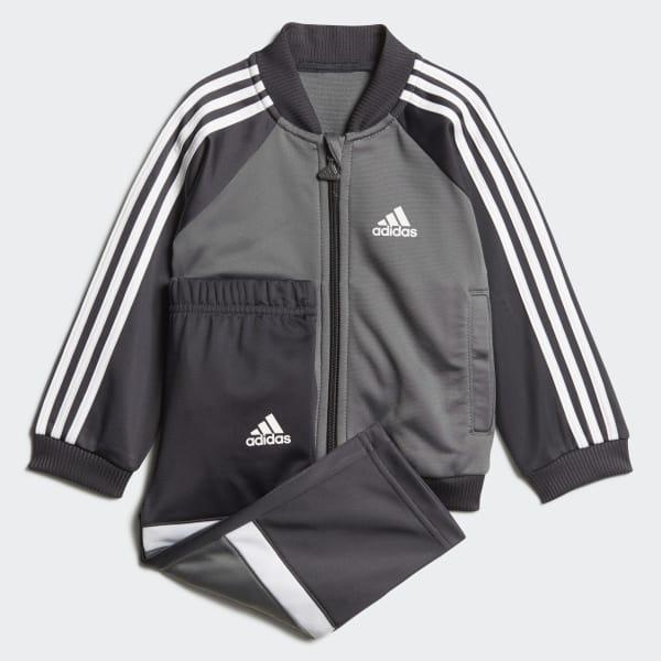 adidas Shiny Track Suit - Grey  85b8dd4c2b