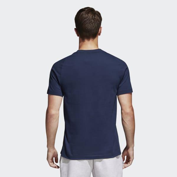 8a408ba96 Camiseta Essentials Base - Azul adidas