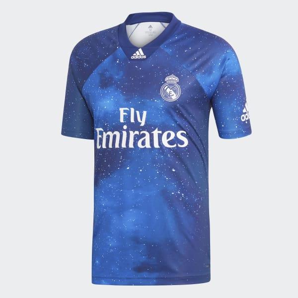 Camiseta Real Madrid EA SPORTS - Azul adidas  3437e1693f3e5