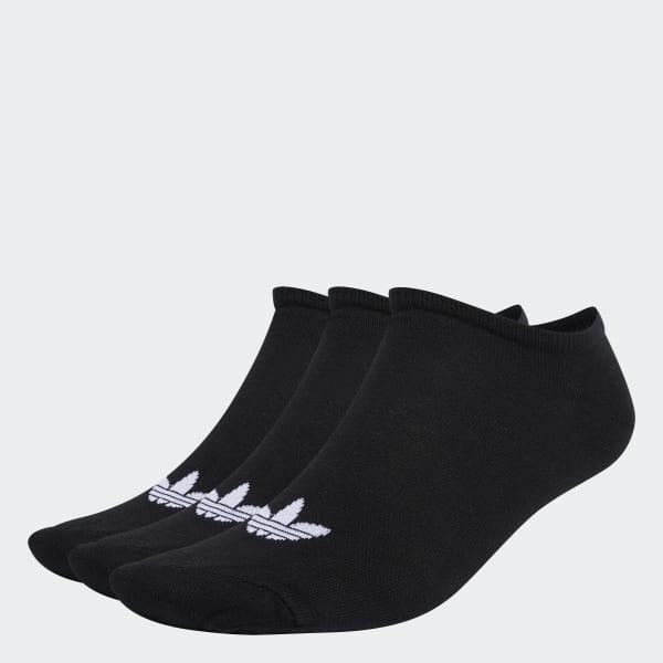 NUOVA linea uomo Adidas Bianco 3 Pack No Show Calzini Di Cotone//Poliestere Trainer Liner