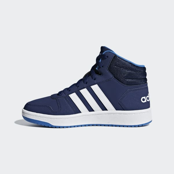 adidas Hoops 2.0 Mid Shoes Blue | adidas US