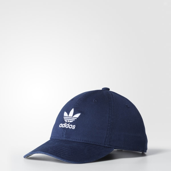 8015c2d46aa adidas Originals Relaxed Strap-Back Hat - Blue