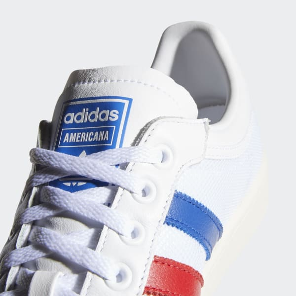 Chaussures basses Americana blanches et bleues   adidas France