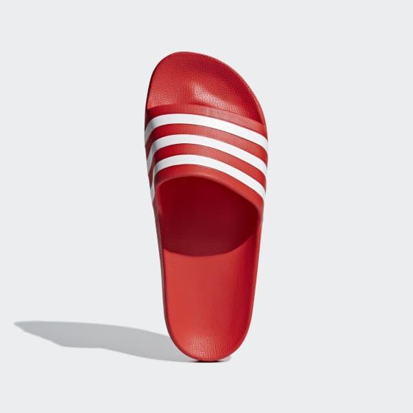 lapso Gaseoso Subir  Chanclas adilette Aqua rojas y blancas | adidas España