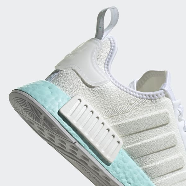Women S Nmd R1 White And Aqua Shoes Adidas Us