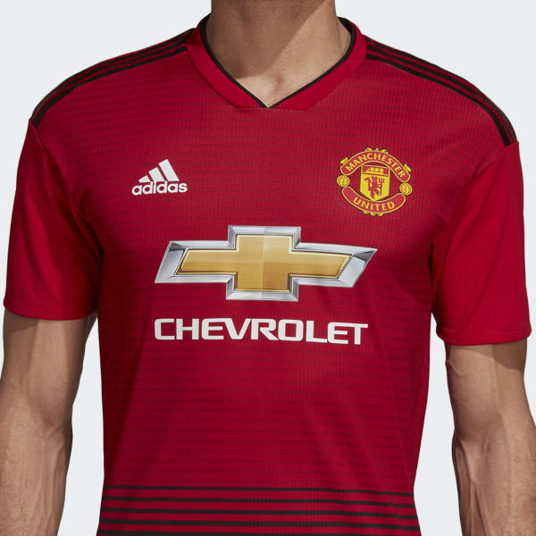 adidas Manchester United Home Authentic Jersey - Red ...