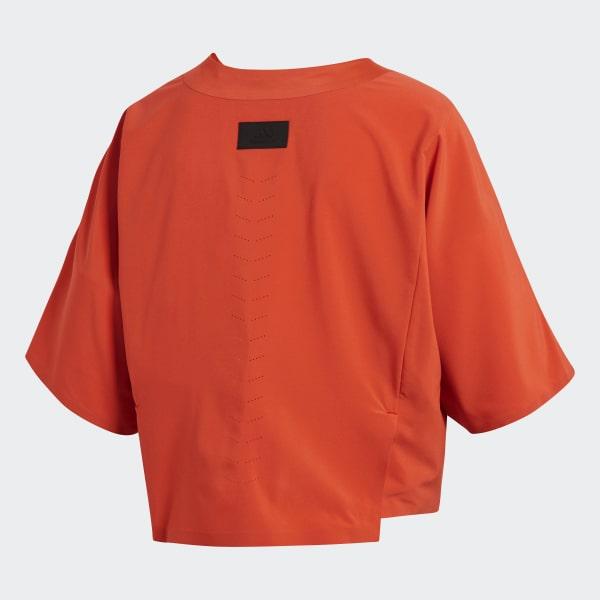 Tee shirt noir et orange adidas polyester