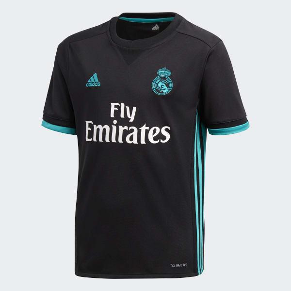 c5f243da8bca3 Camisa Real Madrid 2 Infantil - Preto adidas