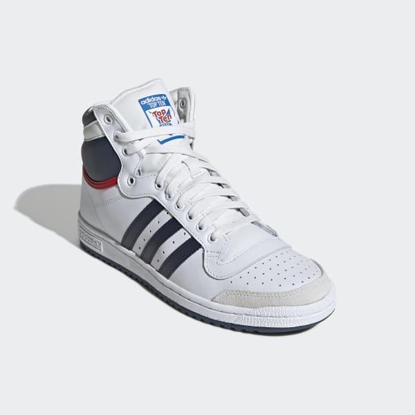 sale retailer d9eeb 673a4 adidas Top Ten Hi-sko - Hvid  adidas Denmark
