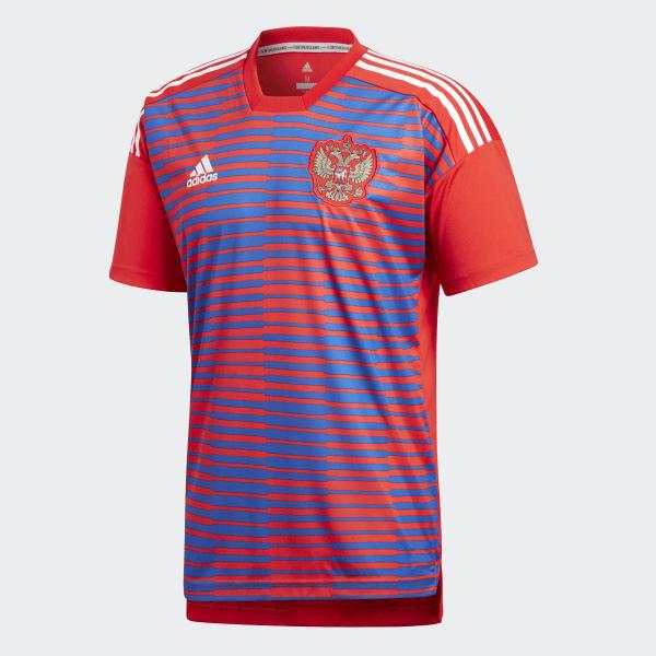 721b14d9c3 0a6ff36b0eb809  Camisa Pré-Jogo Rússia 1 2018 - Vermelho adidas adidas  Brasil 665649a27c2f73 ...