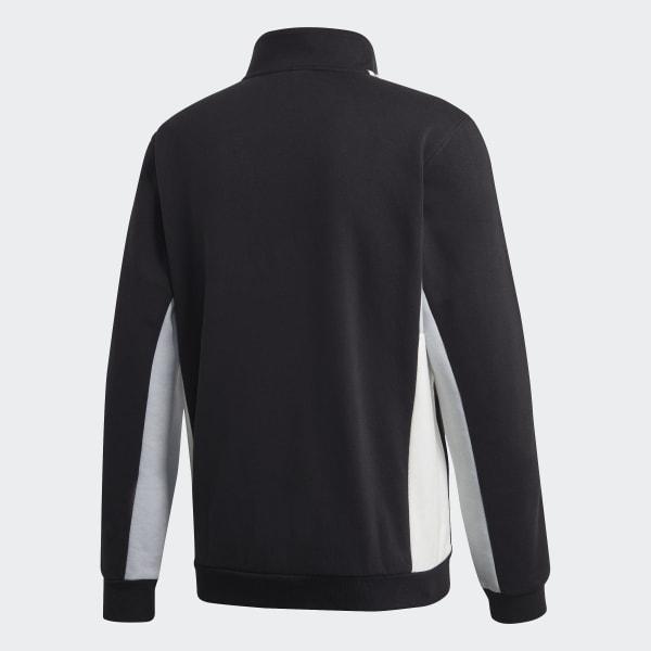 Adidas Modular Quarter Zip Sweatshirt Black Clear Onix