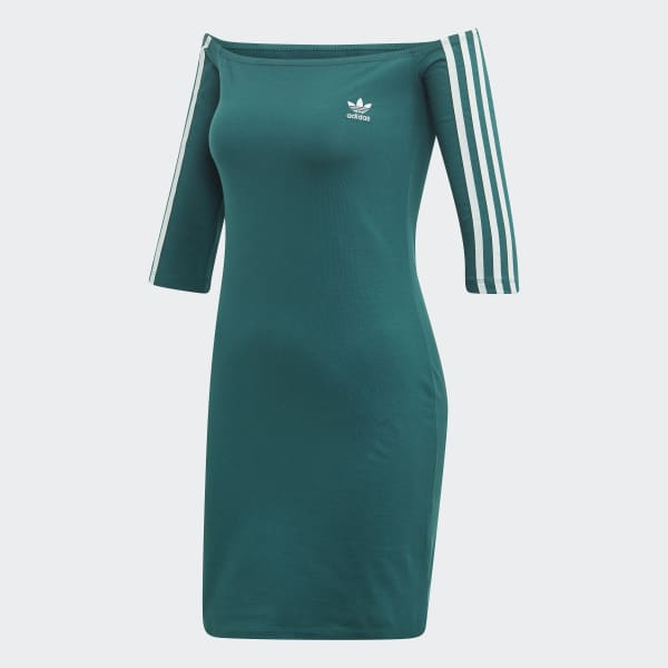 adidas Off the Shoulder Kleid Grün | adidas Austria