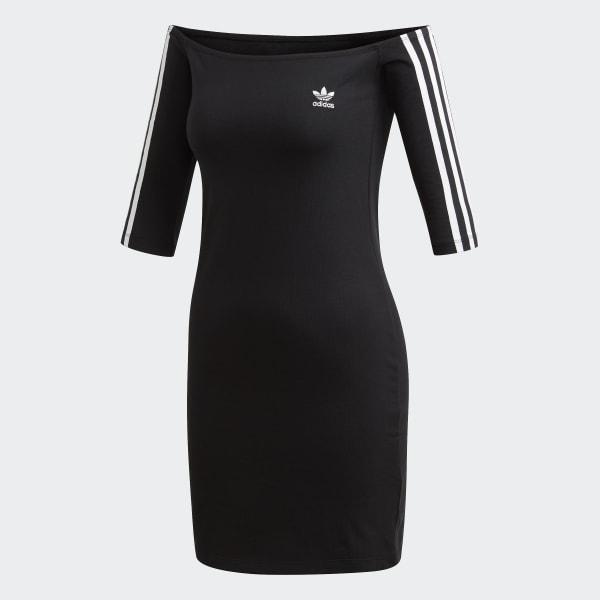 80e10078 adidas Off-the-Shoulder Kjole - Svart | adidas Norway