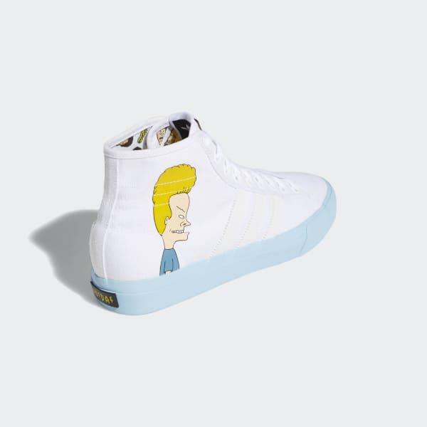 reputable site 01583 1704f adidas Matchcourt High Remix Beavis  Butthead Shoes - White