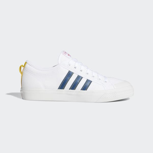 Repetido Coordinar abuela  Nizza Cloud White, Legend Marine and Yellow Shoes | adidas US