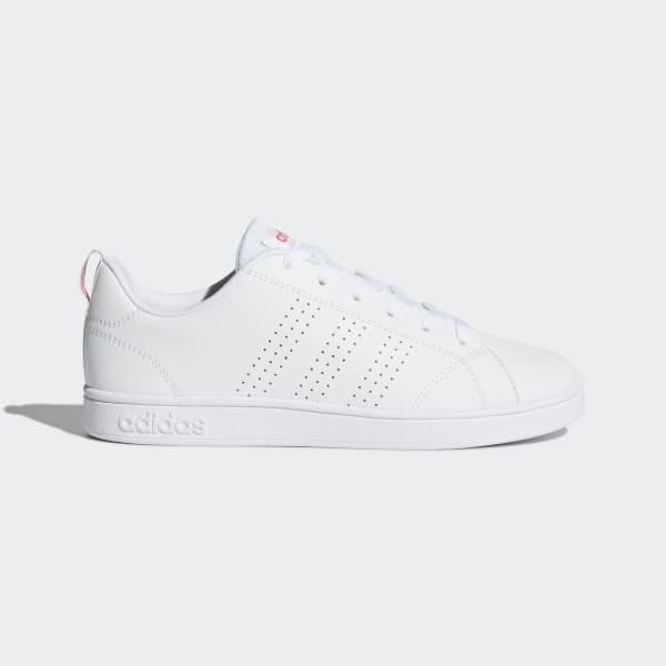 adidas vs advantage damen weiß rosa
