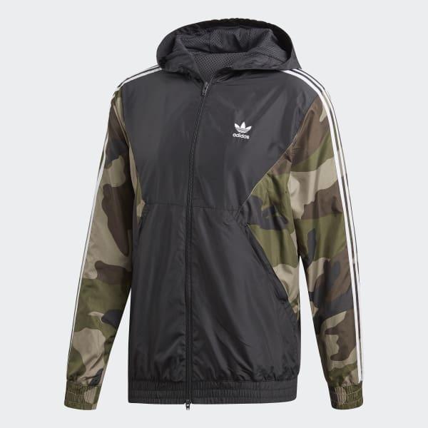 nuevo estilo de tan baratas tienda Cortavientos Camouflage - Negro adidas | adidas Chile