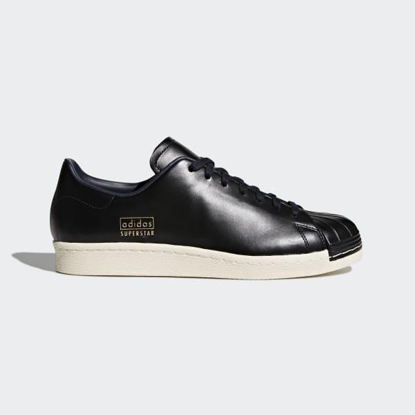 Schwarz Sneaker Schuhe Damen Adidas Originals Superstar 80'S