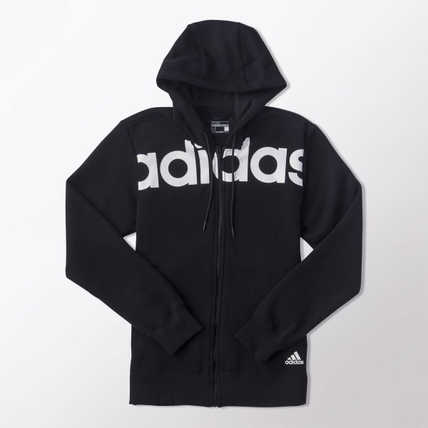 Adidas Originals Linear Hoodie In Black