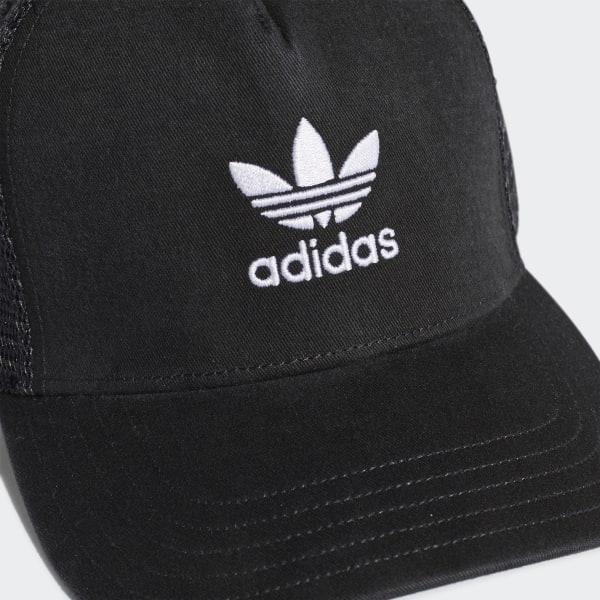 adidas Trefoil Trucker Cap - Black  f7d1c08f33c
