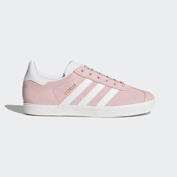 Adidas Gazelle Originals Sko Dame Hvite Rosa Gull Metal
