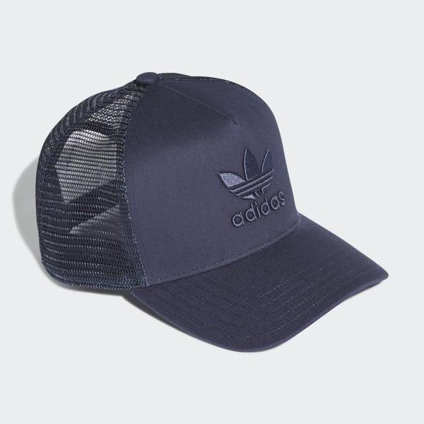 5c7051ab004cf Gorra Trucker Trifolio - Azul adidas