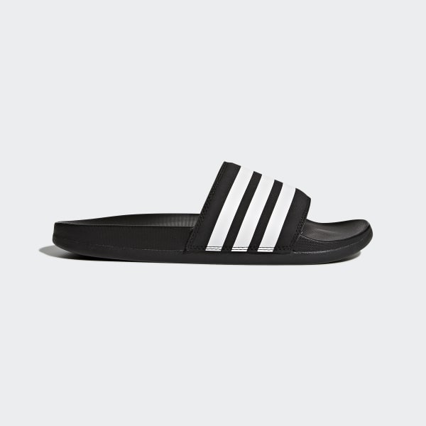 adidas Adilette Cloudfoam Plus Stripes Slides - Black | adidas US | Tuggl