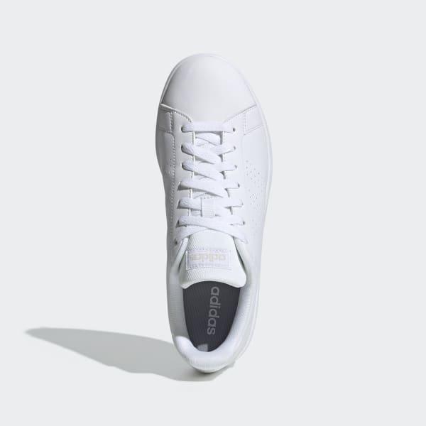Tênis Adidas Advantage Base Feminino Branco e Rosa