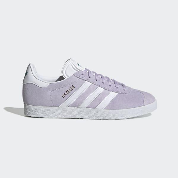 adidas Gazelle shoes purple white