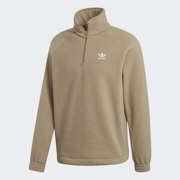 adidas Adicolor Polar Fleece Half Zip Sweatshirt Braun
