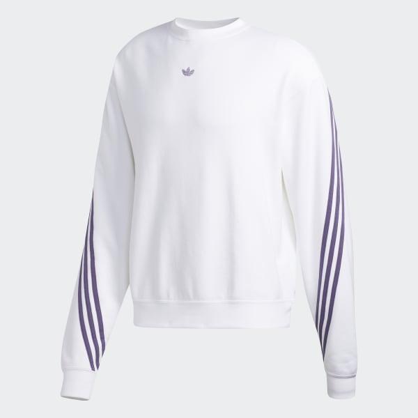 adidas Originals 3 Stripe Wrap Crew Sweatshirt