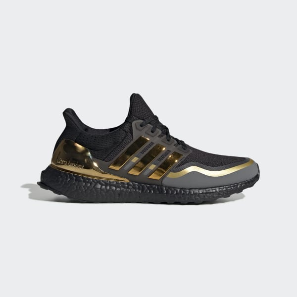 Men's Ultraboost Core Black and Gold