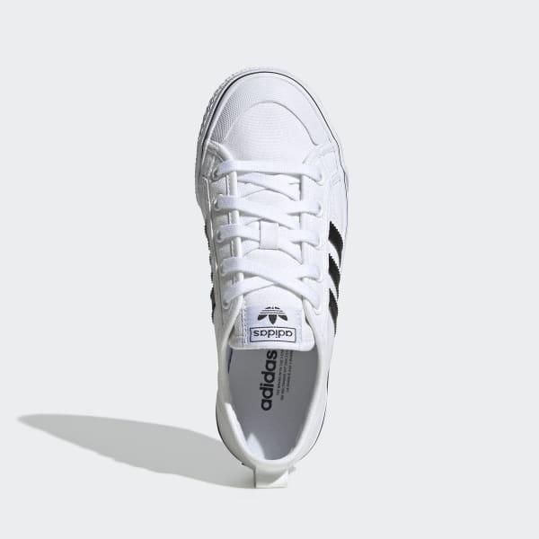 adidas nizza lo junior white