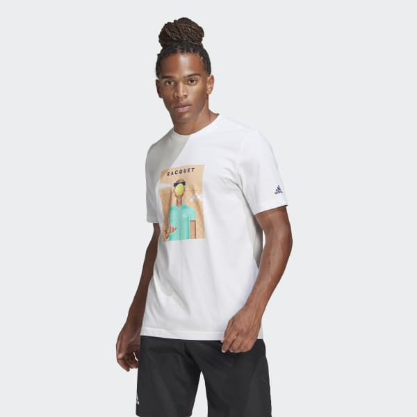 Despedida Distribuir sobre  adidas MEN TENNIS GRAPHIC ADIDAS RACQUET MAG T-SHIRT - White | adidas UK