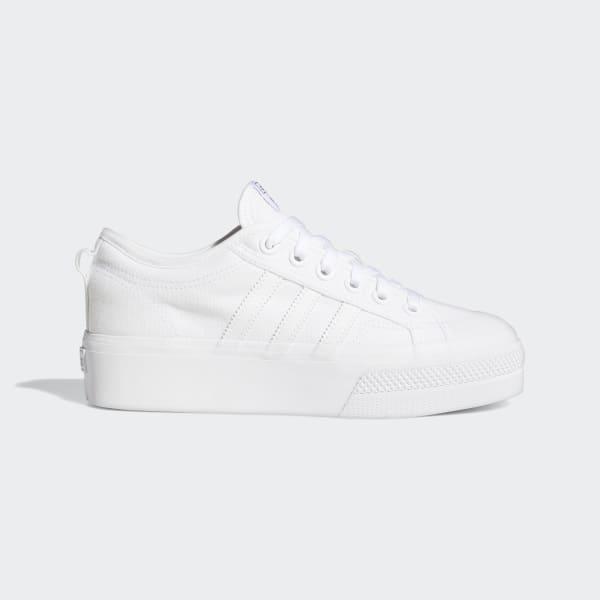 adidas Nizza Platform Shoes - White