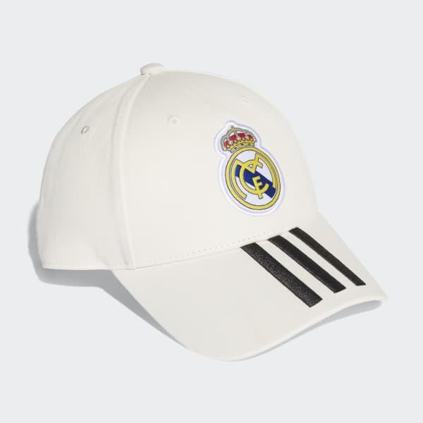 Gorra Real Madrid 3 bandas - Blanco adidas  0f60963ffeb